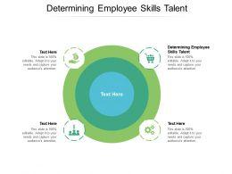 Determining Employee Skills Talent Ppt Powerpoint Presentation Infographics Topics Cpb