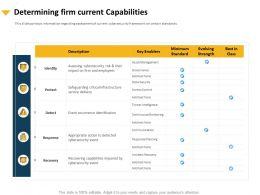 Determining Firm Current Capabilities Infrastructure Ppt Professional