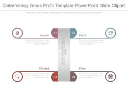 Determining Gross Profit Template Powerpoint Slide Clipart