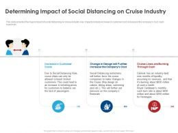 Determining Impact Of Social Distancing On Cruise Industry Ppt File Elements