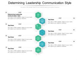 Determining Leadership Communication Style Ppt Powerpoint Presentation Infographic Template Slides Cpb