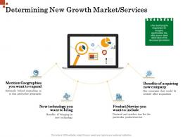 Determining New Growth Market Services Inorganic Growth Management Ppt Professional
