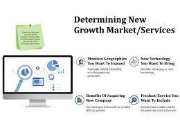 Determining New Growth Market Services Ppt File Influencers