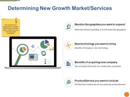 Determining New Growth Market Services Ppt Pictures Graphics Tutorials