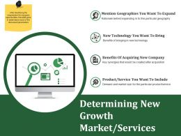 Determining New Growth Market Services Ppt Styles Styles