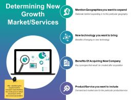 Determining New Growth Market Services Ppt Tips