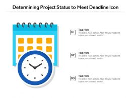 Determining Project Status To Meet Deadline Icon
