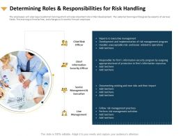 Determining Roles And Responsibilities For Risk Handling Documenting Ppt Slides