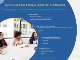 Determining Roles And Responsibilities For Risk Handling Information Resources Ppt Slides