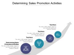 Determining Sales Promotion Activities Ppt Powerpoint Presentation Professional Maker Cpb