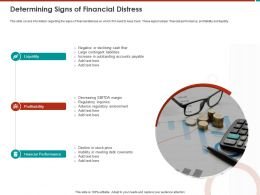 Determining Signs Of Financial Distress Large Ppt Powerpoint Presentation File Graphics Tutorials
