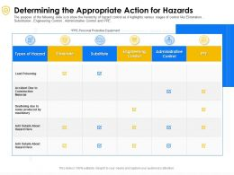 Determining The Appropriate Action For Hazards Construction Ppt Powerpoint Presentation File Gallery