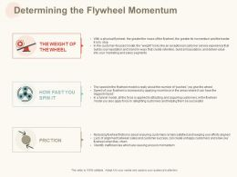 Determining The Flywheel Momentum Ppt Powerpoint Presentation Visual Aids