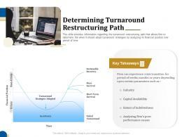 Determining Turnaround Restructuring Path Business Turnaround Plan Ppt Infographics