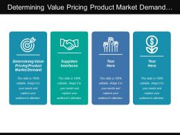 Determining Value Pricing Product Market Demand Suppliers Interfaces