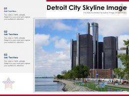 Detroit City Skyline Image Powerpoint Presentation PPT Template