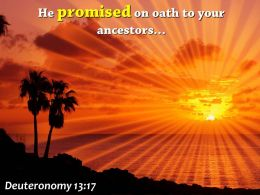 Deuteronomy 13 17 He Promised On Oath Powerpoint Church Sermon