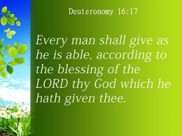 Deuteronomy 16 17 The LORD Your God Has Blessed Powerpoint Church Sermon