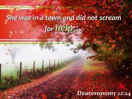 Deuteronomy 22 24 Town And Did Not Scream Powerpoint Church Sermon