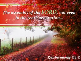 Deuteronomy 23 2 The Assembly Of The LORD Not Powerpoint Church Sermon