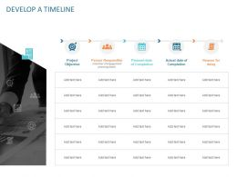 Develop A Timeline Ppt Powerpoint Presentation Styles Layout Ideas
