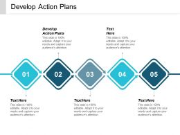 Develop Action Plans Ppt Powerpoint Presentation Slides Display Cpb