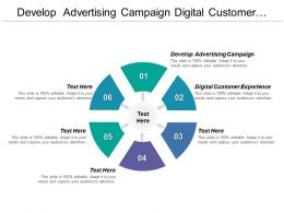 Develop Advertising Campaign Digital Customer Experience Software Product