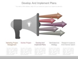 Develop And Implement Plans Ppt Sample