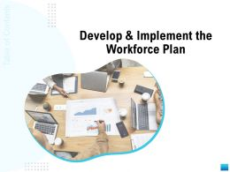 Develop And Implement The Workforce Plan Agenda Ppt Powerpoint Presentation Mockup