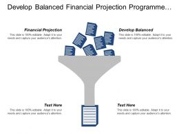 Develop Balanced Financial Projection Programme Sources Manage Performance