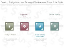 Develop Budgets Access Strategy Effectiveness Powerpoint Slide