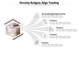 Develop Budgets Align Funding Ppt Powerpoint Presentation Summary Slides Cpb