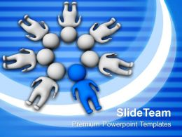 Develop Business Strategy Powerpoint Templates 3D Man Teamwork Ppt Slides