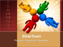 Develop Business Strategy Templates 3D Man With Heads Together Teamwork Ppt Themes Powerpoint