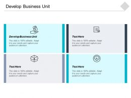 Develop Business Unit Ppt Powerpoint Presentation Gallery Example File Cpb