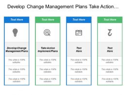 Develop Change Management Plans Take Action Implement Plans