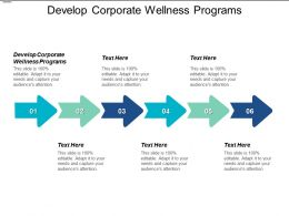 Develop Corporate Wellness Programs Ppt Powerpoint Presentation File Outfit Cpb