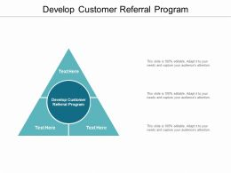 Develop Customer Referral Program Ppt Powerpoint Presentation Ideas Cpb