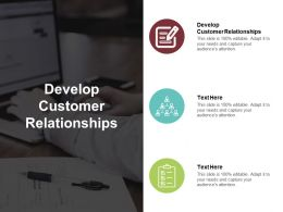 Develop Customer Relationships Ppt Powerpoint Presentation File Gridlines Cpb