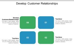 Develop Customer Relationships Ppt Powerpoint Presentation Ideas Outfit Cpb