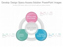 Develop Design Specs Assess Solution Powerpoint Images