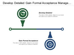 Develop Detailed Gain Formal Acceptance Manage Stakeholder Needs