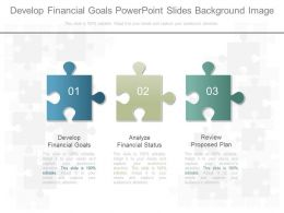 Develop Financial Goals Powerpoint Slides Background Image