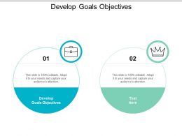 Develop Goals Objectives Ppt Powerpoint Presentation Styles Examples Cpb