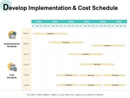 Develop Implementation And Cost Schedule Compare Ppt Powerpoint Presentation Slides