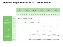 Develop Implementation And Cost Schedule Ppt Powerpint Presentation Slides