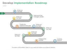 Develop Implementation Roadmap Example Of Ppt