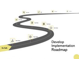 Develop Implementation Roadmap Growth Checklist Ppt Powerpoint Presentation Layouts Show