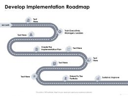 Develop Implementation Roadmap Implementation Plan Ppt Powerpoint Presentation Ideas Aids