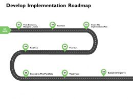 Develop Implementation Roadmap Timeline Ppt Presentation Slides